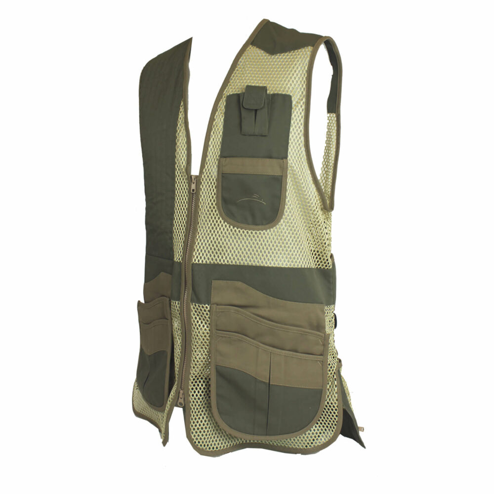 Krieghoff Mesh Vest by Wild Hare – Left Handed, Sage and Khaki